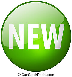 New Round Green Glass Shiny Button