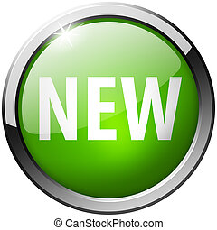 New Round Green Metal Shiny Button