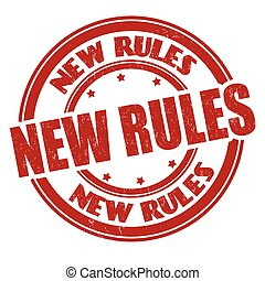 New rules grunge rubber stamp