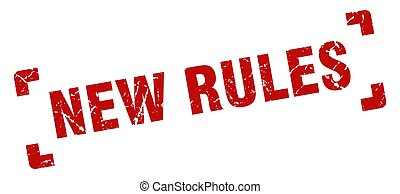 new rules stamp. square grunge sign isolated on white background