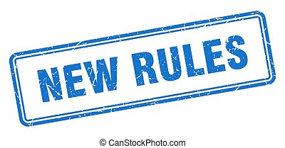 new rules stamp. square grunge sign on white background