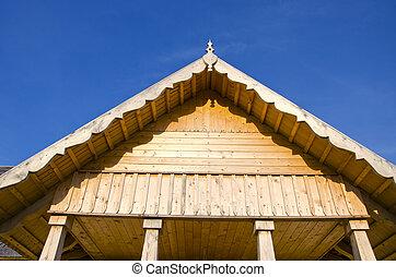 new rural wooden house fragment