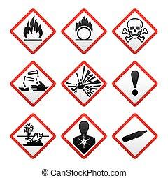 New safety symbols - New Hazard warning signs. Globally...