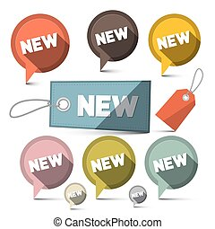 New Sale Vector Labels Set