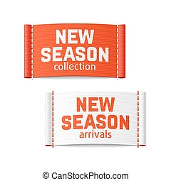 New season arrivals and collection labels