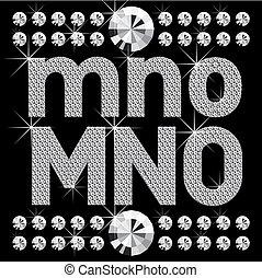 new set of diamond bold letters - vector set of diamond...
