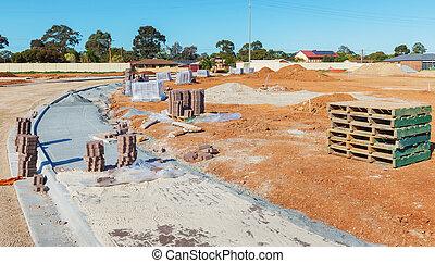 new sidewalk construction