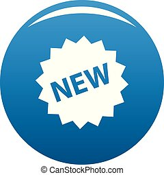 New sign icon blue vector