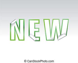"""new"", signe, vecteur, sticker."