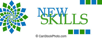 New Skills Blue Green Square
