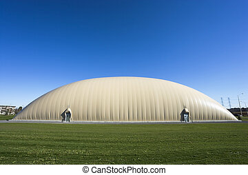 New Sports Dome - Exterior view of a multi-sport inflatable...