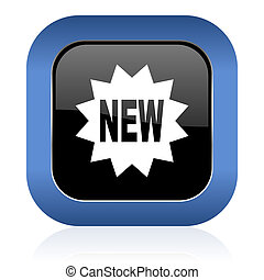 new square glossy icon