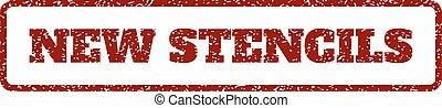New Stencils Rubber Stamp