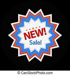 New sticker sale discount symbol