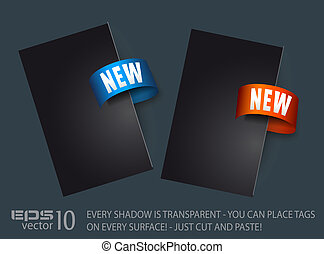New Sticker Tag with Transparent Shadows. Place it...