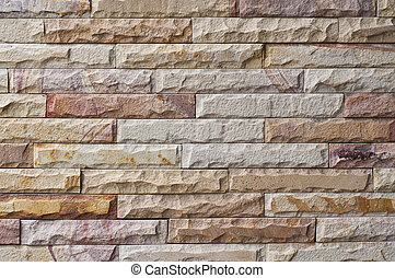 New stone brick wall.