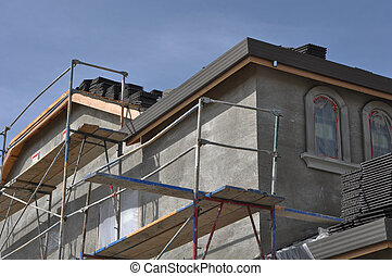 New Stucco Home Under Construction