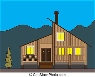 New Style House - new style house illustration clip-art eps