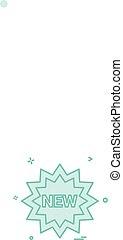 New tag icon design vector