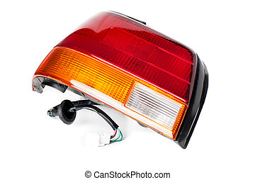 tail lamp - new tail lamp and break lamp isolated on white ...