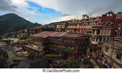 Hillside teahouses in Jiufen, Taiwa - New Taipei City,...