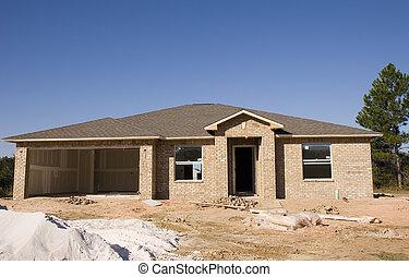 New Tan Brick Construction