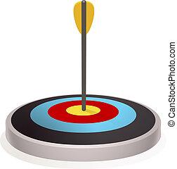 New target icon, cartoon style