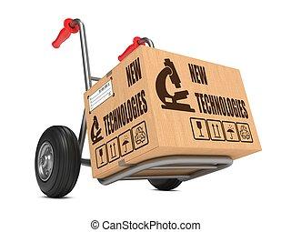 New Technologies - Cardboard Box on Hand Truck. - New ...