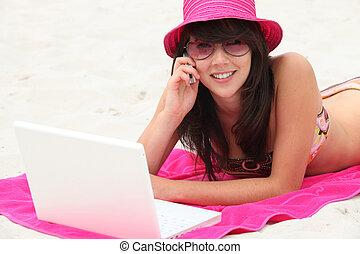 New technologies on the beach
