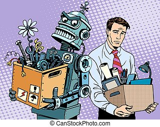 New technologies robot replaces human