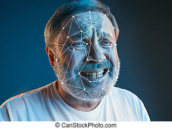 New technology of face recognition on polygonal grid - It is...