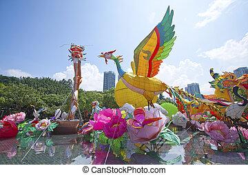 New Territories West Mid-Autumn Lantern Carnival on 12...