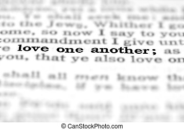 New Testament Scripture Quote Love One Another - Detail...