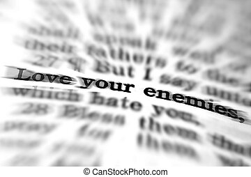 New Testament Scripture Quote Love Your Enemies