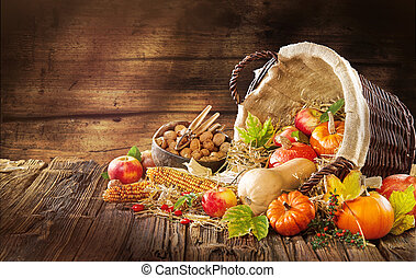 New Thanksgiving card creation for fall and autumn concepts.