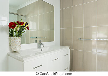 New tiled ensuite bathroom - New compact ensuite bathroom...