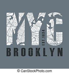 New Tork Brooklyn t-shirt and apparel vector design, print, typo