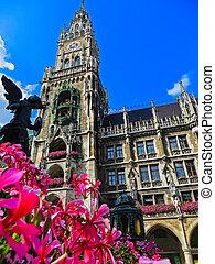 Bavaria - Munich, Germany - New Town Hall in Marienplatz - ...