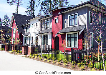 New townhouses in Canada