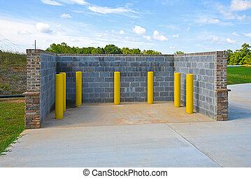 New Trash Bin Enclosure