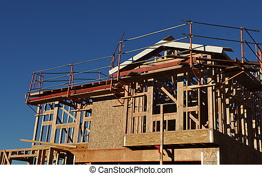 New Two Story Home Under Construction