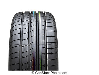 new tyre isolated on white background