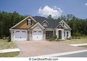 new upscale home - upscale home with brick, vinyl and shake...