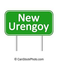 New Urengoy road sign.