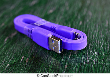 new usb 3 purple cable