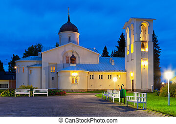 New Valaam monastery in Finland - Scenic evening view of the...