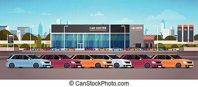 New Vechicles Car Dealer Center Showroom Building