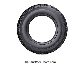 New vehicle truck tire. Big car wheel - front view.