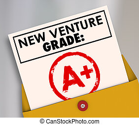 New Venture Grade Report Card A Plus Great Grade Score