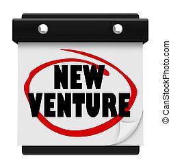 New Venture Wall Calendar Launch Reminder Business Startup